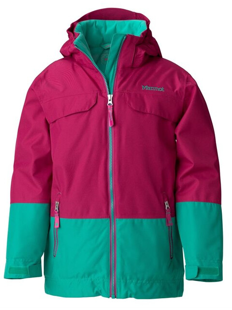 Marmot Girl's Skylark Jacket Berry Rose/Lush